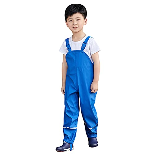 Cutemile Salopette Antipioggia Unisex per Bambini, Impermeabile, Antivento, Pantaloni...