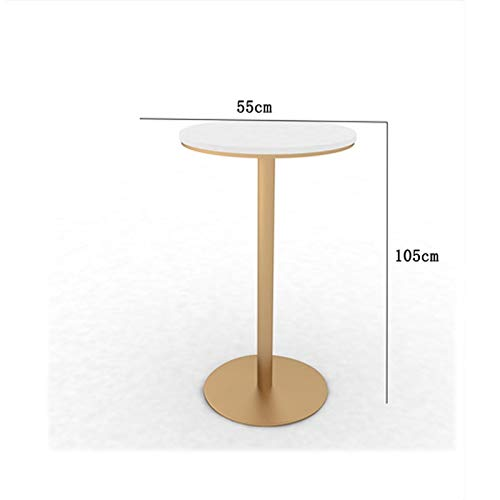 GXDHOME Bar Stools Bar Table,Iron Bar Stools Square Round Shape Bar Table Simple Restaurant Personality High Stools Home Dining Living Room High Back Leisure Chair-Gold