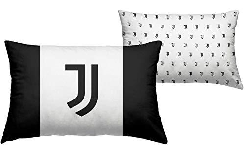 Juventus – Funda de cojín 40 x 60 cm para niño de la Juve oficial   Regalo Juventus para cuna de bebé   Producto original para cuna   Fantasía blanco/negro – Logo
