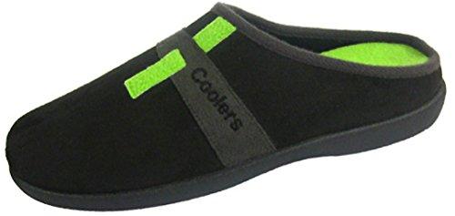 Coolers - Zapatillas para hombre con plantillas de espuma viscoelástica, tallas 41-47, color Negro, talla 44 EU