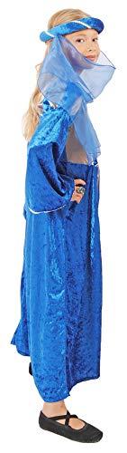 Burgfräulein Prinzessin Helena Blau Silber Gr. 140 - 4
