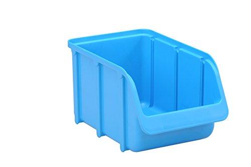 hünersdorff Sichtbox / Stapelbox / Lagerbox in Größe 3, stapelbar, Farbe: Blau