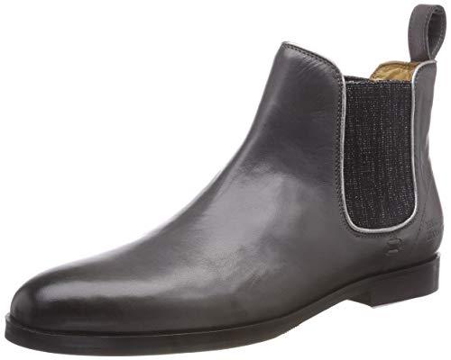 Melvin & Hamilton Damen Susan 10 Chelsea Boots, Grau (Salerno/Stone + Binding Talca Aluminium/Ela Glitter Black/HRS Blk), 40 EU