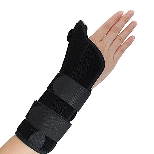 Férula de soporte de muñeca, brazaletes para esguinces de muñeca, síndrome del túnel carpiano, rehabilitación de fracturas del pulgar, alivio del túnel carpiano, esguinces y otras lesiones de muñeca