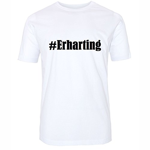 T-Shirt #Erharting Größe 4XL Farbe Weiss Druck schwarz