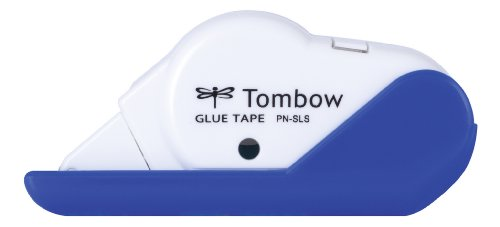Tombow PN-SLS-B Kleberoller permanent, 8.4 mm x 8 m, blau/weiß