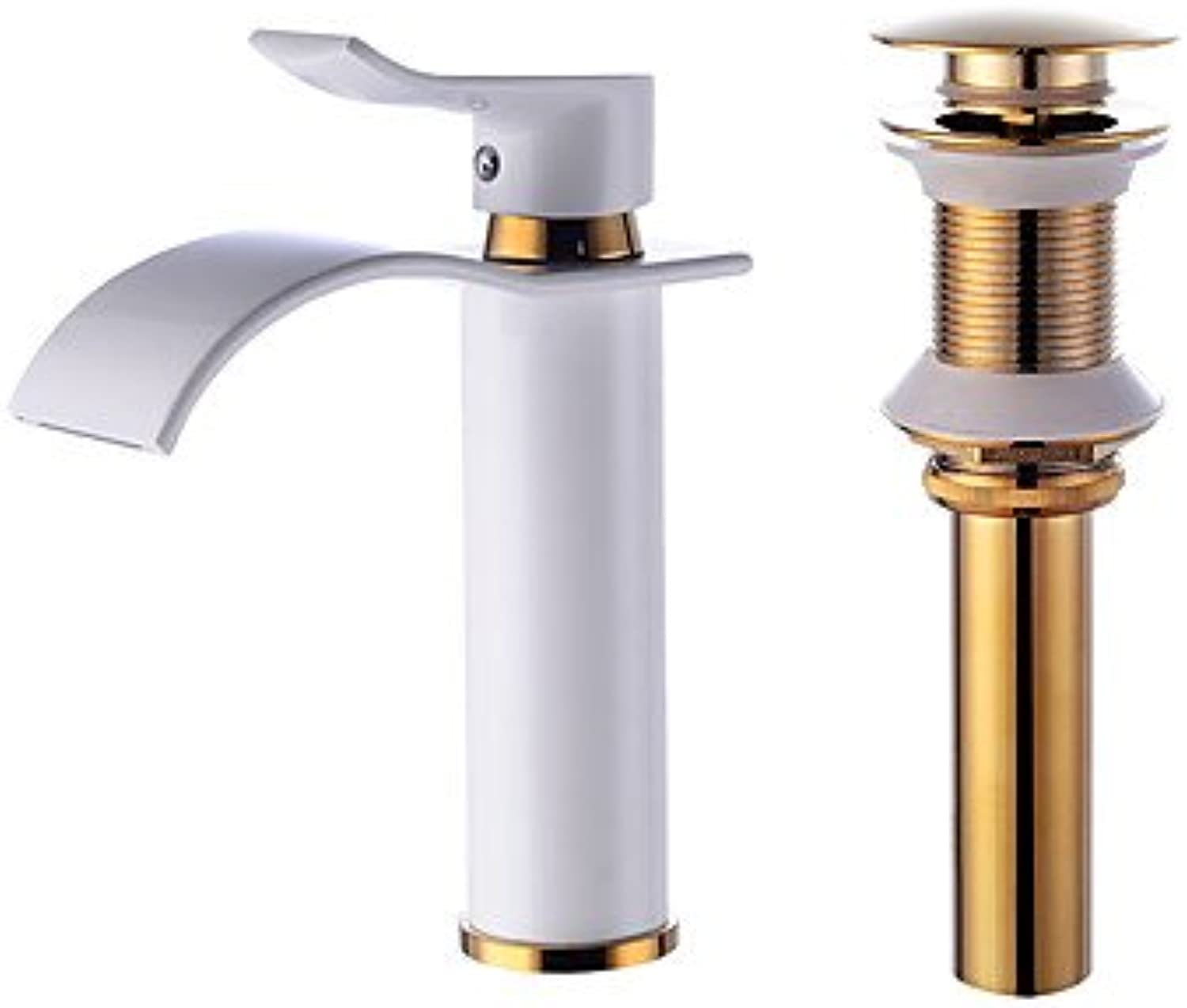 ZYT Centerset Waterfall with Ceramic Valve One HoleBathroom Sink Faucet