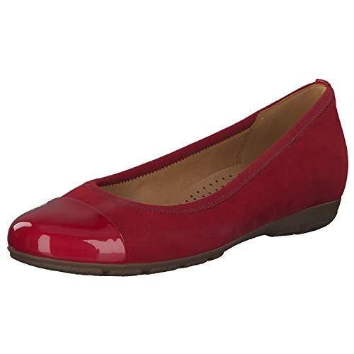 Gabor 24.161 45 Damen klassischer Ballerina Lederimitat Hovercraft-Ausstattung, Groesse 41 1/2, rot