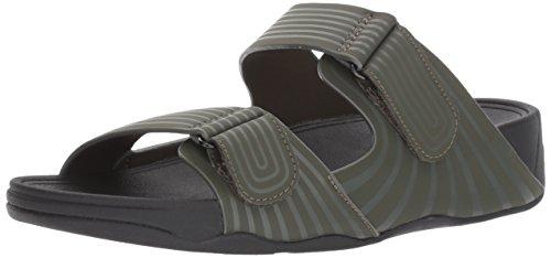 FitFlop Men's Gogh Sport Slide Adjustable Sandal, everglades, 11 M US