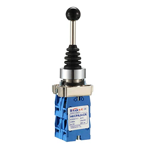 uxcell Joystick Switch Controllers 4 Position 4NO Momentary Type 150V/250V/600V 22mm Panel Mount