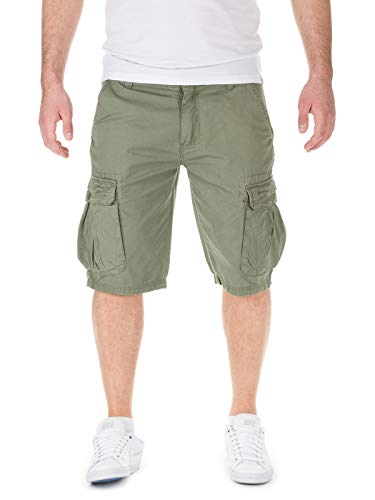 !Solid Cargo Chino Shorts - Sommer Bermuda Hose, 3077 deep liche, M, 3077 deep liche, M