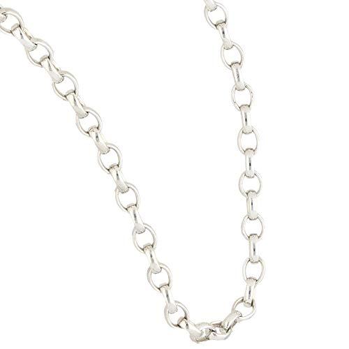 Jollys Jewellers Cadena Belcher de plata de ley de 45,72 cm (3 mm de ancho) | Collar único para mujer