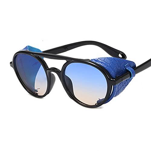 DAIDAICDK Gafas de Sol Redondas para Mujer Hombre Colorido Ojo de Gato gradiente Viajes al Aire Libre Gafas Accesorios para Coche