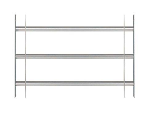 GAH-Alberts 563707 Fenstergitter Secorino Basic - Ausziehbar für Fenster außen - galvanisch blau verzinkt - Einbruchschutz Gitter - 450 x 700-1050 mm