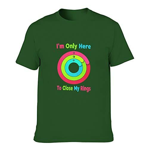 Camiseta de algodón para hombre, diseño con texto en inglés 'I'm Only Here to Close My Rings