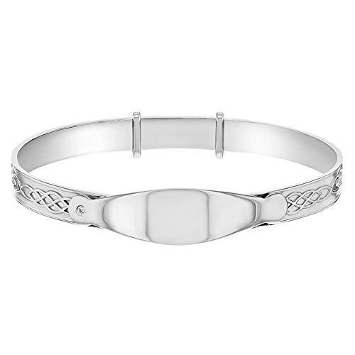 925 sterling zilveren Tag ID armband voor baby's pasgeboren baby's verstelbaar