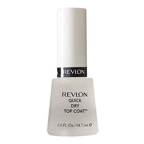 Revlon Quick Dry Top Coat for Chip Free Long Lasting Nail Polish Color, 0.5 oz