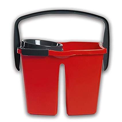 1 pezzo Tonkita Professional DUPLEX 14 L secchio doppia vasca cm. 36x27x26 strizzatore professionale