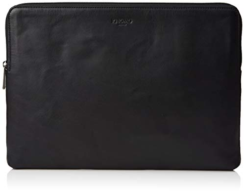 Knomo Barbican Leather Sleeve for 15-Inch Laptop - Black