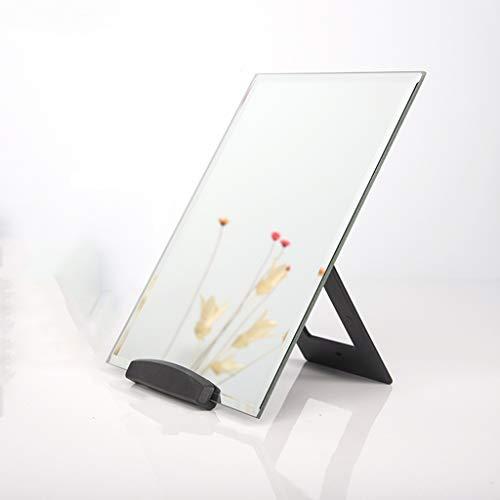 C-J-Xin Espejo de escritorio sin llantas, dormitorio rectangular portátil espejo de afeitado de mano de los hombres espejo de maquillaje