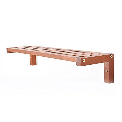 LRZLZY Wandplank massief hout woonkamer TV achtergrond muur set-top box plank partitie (lange 750MM* hoge 150MM* breedte 230MM)