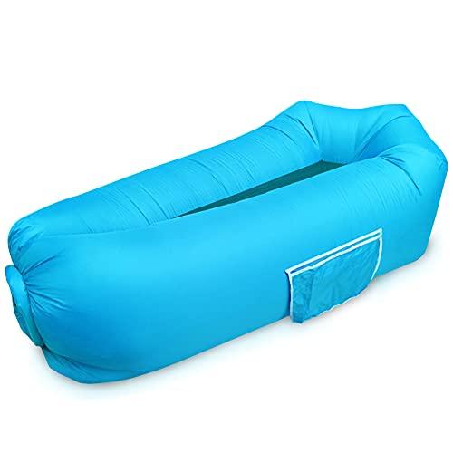 monroebaby Aufblasbare Liege, 2021 Neue wasserdichte aufblasbare Sofa mit Aufbewahrungstasche air Sofa Liege hängematte mit kopfstütze aufblasbare Couch fit für Reisen, Camping, Pool und Strand