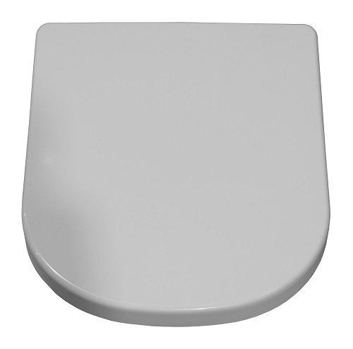Geberit WC-Sitz iCon weiß mit Absenkautomatik-Deckel und Befestigung aus Metall, 574130000