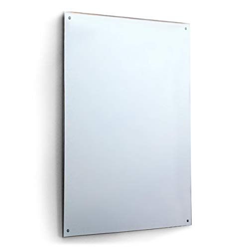 New 6Ft X 4Ft 183 X 121cm Mirror Glass With 4 Holes Home Gym Dance Studio Etc