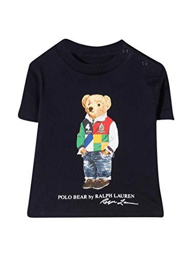 Polo Ralph Lauren - Camiseta Azul Oso 320838244003 - Camiseta Azul Oso bebé niño (12 Meses)