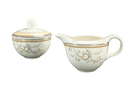 CreaTable 17807, Serie Villa Medici, Geschirrset Milch- und Zuckerset 2 teilig