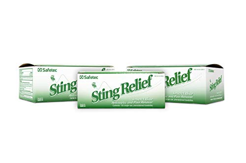 Safetec Sting Relief Wipes 150ct Box (3 Pack of 150ct Wipes - 450 Sting Wipes) for Insect Bites & Stings
