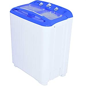 Syntrox Germany Chef Cleaner Mini Twin Tub Washing Machine/ Spin Dryer with spin/pump and timer 5.2 Kg