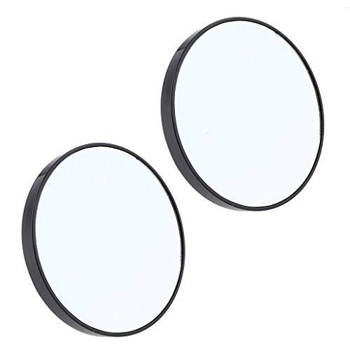 B Baosity 2pièces Miroir de Poche,Miroir 15X Grossissant avec Ventouses de Maquillage pour Salle de Bain Voyage - 10 cm