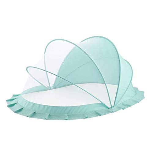 Foldable Baby Mosquito Net, Transparent Mesh Cover Canopy Bed, Retractable Mosquito Net, Prevent Mosquito Bites, Suitable for 0-5 Year Old Baby (Size : 110 cm× 60 cm × 65 cm)