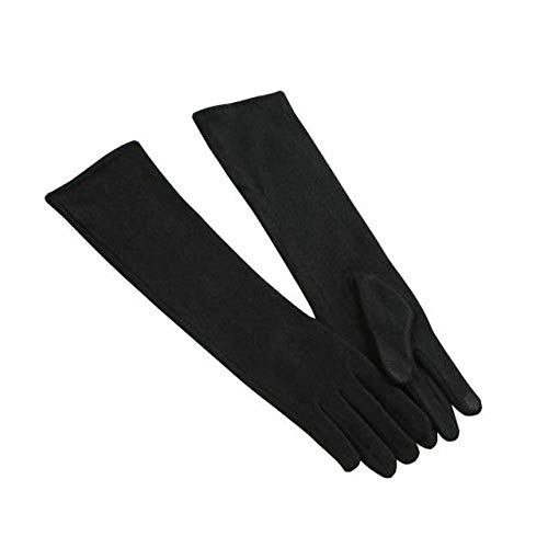 Bruce Dillon Damen Lange Kaschmirhandschuhe Mode weiche Handschuhe Damen Winter warme Abschlussballkleidung in Ellbogenhandschuhen Damenhandschuhe - Schwarz
