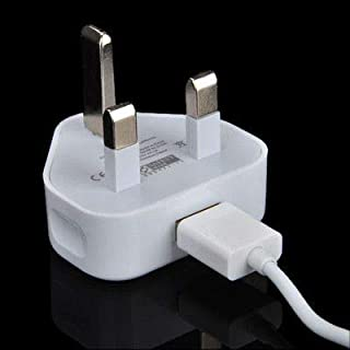 UK Plug USB Converter Power Adapter Wall Charger Charging Cable for iPhone iPad