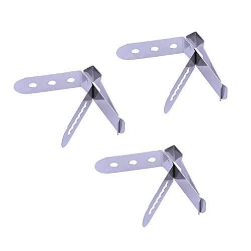 BESTONZON Supporto per termometro in acciaio inossidabile per alimenti 4 pezzi/Supporto per clip per sonda, funziona per letture di temperatura ambiente (4,5 x 4,5 x 1 cm)