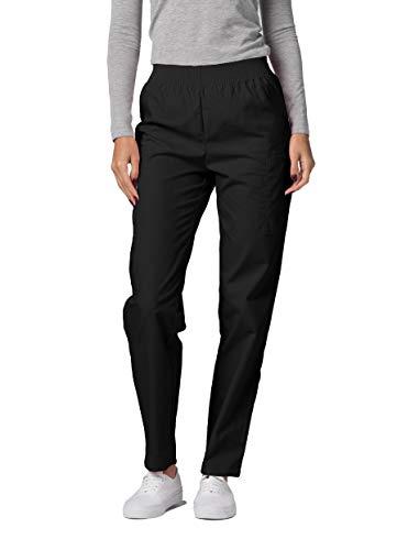 Adar Universal Pantalon Médical Femme - Pantalon Fonctionnel Cargo Fuselé - 503 - Black - M