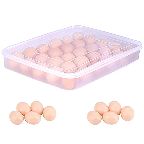 Huevos Contenedor, Hueveras De Plastico, Caja Organizadora de Huevos, Caja de Huevos Apilable, Caja de Huevos Portátil, Caja Huevos Transparente, para Nevera Cocina Organizador de Huevos Contenedor