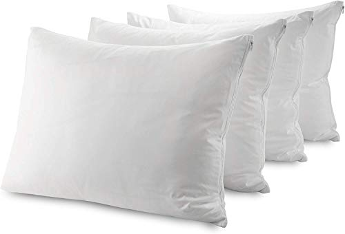 Guardmax Waterproof Pillow Protectors Zippered Covers Bed Bug Proof - Breathable Hypoallergenic Encasement Allergy Relief Dust Control Non Noisy (Queen Size 20x30 Inches - 4 Pack)