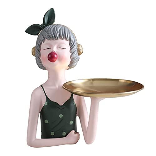 AHAI YU Ciondolo Decorativo centrotavola Vassoio Vassoio tavolino tavolino Vassoio Creativo Ragazza stoccaggio Vassoio, Ciotola Decorativa per Chiavi, Gioielli Moneta Orologi da Sole, Regalo per lei
