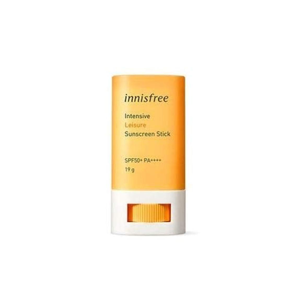 バングラデシュ寛容歯イ二スフリー インテンシブ レジャー サンスクリーン スティック SPF50+ PA++++ / Innisfree Intensive Leisure Suncreen Stick 19g [並行輸入品]