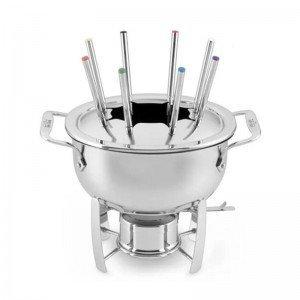 All-Clad Gourmet Accessories Fondue Pot with Cast-Aluminum Insert