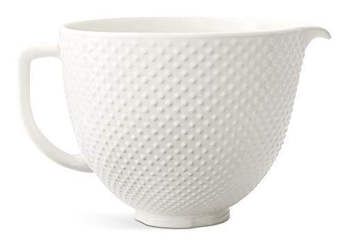 KitchenAid KSM2CB5THB Stand Mixer Bowl, 5 quart, White Hobnail Ceramic