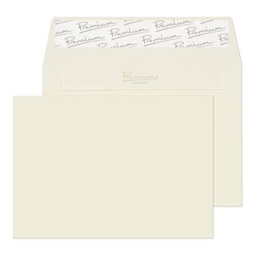 Premium Business 35155 Briefumschläge Haftklebung HochWeiß Wove C6 114 x 162 mm 120 g/m² | 50 Stück