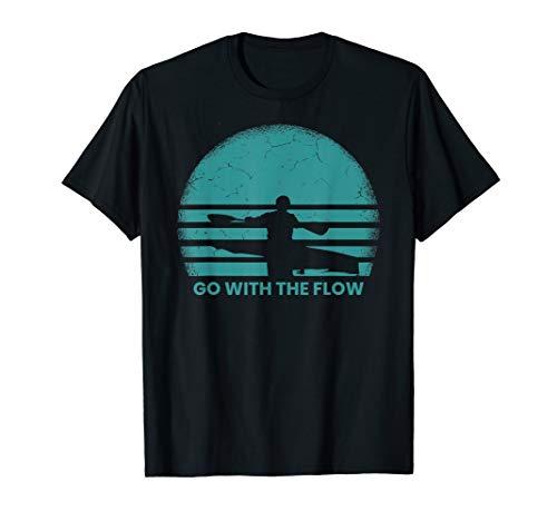 Kayaking Gift Retro Vintage Sunset River Kayak T-Shirt
