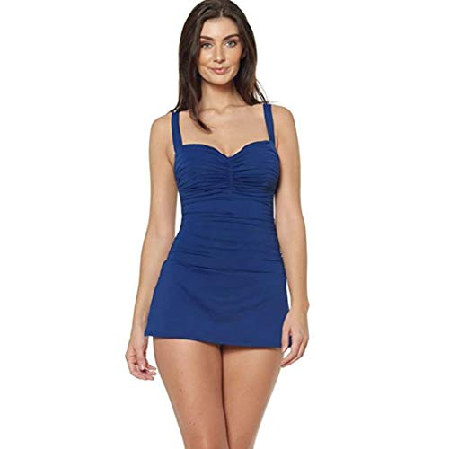 Bleu Rod Beattie Dress for Success Shirred Bandeau Mio with Underwire Navy 10D