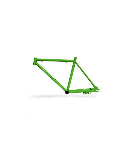 Riscko 001m Cuadro Bicicleta Personalizada Fixie Talla M Verde Fluor