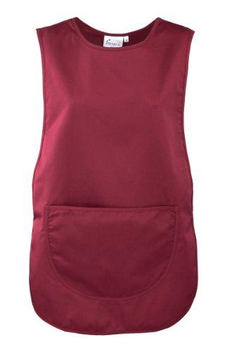 Premier Überwurfschürze/Kasack/Tabart mit Tasche (XL, Burgundy)