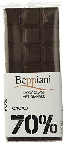 Beppiani – Set 5 Tavolette Cioccolato Fondente Dark 70% – 350 g – Cioccolato Artigianale – MADE IN ITALY
